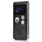 Rechargeable-Digital-Voice-Recorder-MP3-Player-Gray-(8GB)