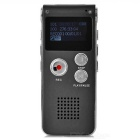 Rechargeable Digital Voice Recorder MP3 Player - Gray (8GB)