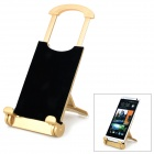 Universal Desktop Display Stand for Tablet PC / Mobile Phones - Golden + Black