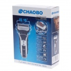 CHAOBO RSCW-9500 Stylish Double Head Reciprocating Shaver - Black + Silver (220V / 2-Flat-Pin Plug)