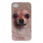 Animal Series Cute Dog Style Phone Case Cover for Iphone 4 / 4s - Brown+Black