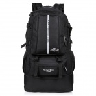 LKLL Outdoor Mountaineer Nylon Backpack - Black (36~55L)
