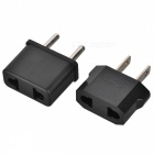 US Socket to EU Plug, EU Socket to US Plug AC Power Adapters (2PCS)