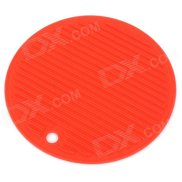 FGD-001 Round Shaped Anti-Slip Silicone Insulation Mat Pad - Red