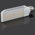 E27 10W 479lm 3000K 50-5050 SMD LED Warm White Light Lamp - Silver + White (85~265V)
