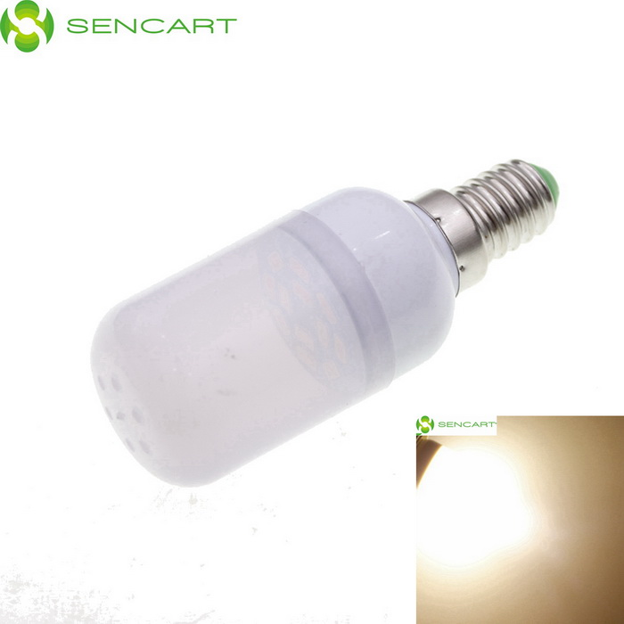 "SENCART E14 1.5W ""120lm"" 3200K 12 x SMD 5730 LED Warm White Light Bulb - White (AC 220~240V)"
