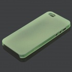 S-What Protective Back Case for IPHONE SE / 5 / 5S - Translucent Green
