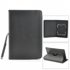 Lychee Grain Style PU Leather Case for Samsung Galaxy Tab T210 / T211 / P3100 / T2105 - Black