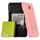 "MX2 3.5"" Capacitive Touch Screen Android 2.3 Bar Phone w/ Bluetooth / Camera - Pink + Black"