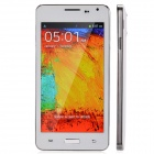 "W9000 4.7"" Capacitive Screen Android 4.3 Bar Phone w/ 512MB RAM, 4GB ROM - White + Silver"