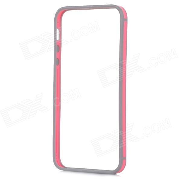 0.7mm Ultrathin Protective TPU + PC Bumper Case for IPHONE 5 / 5S - Deep Pink + Grey