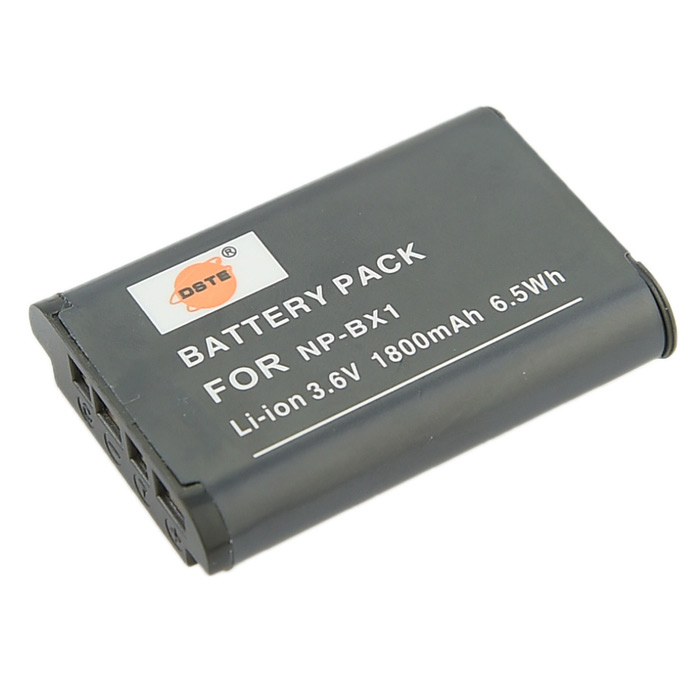DSTE NP-BX1 Battery & Charger for Sony RX1R / HX50 + More - Black