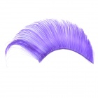 Synthetic Man-Made Fiber Makeup Artificial Curl Eyeflashes - Purple (Pair)