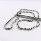 EQute PSSM3C1 316L Stainless Steel Mechanic Style 5mm Width Chain Necklace 24""