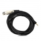 XLR to 3.5mm OFC Audio Cable - Black + Silver