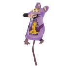 Cheese Rats Pet Cat Toy - Purple + Yellow