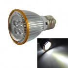 E27 5W 250lm 6000K 5 x SMD LED White Light Spotlight - Silver + Orange (AC 85~265V)