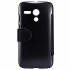 NILLKIN Protective PU Leather + PC Case Cover for MOTO G - Black