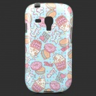 Protective TPU Back Case for Samsung Galaxy S3 Mini i8190 / i8160 - Blue + Pink + Multicolor