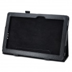 Lichee Pattern Protective 2-Fold PU Leather Case for Asus T100 - Black