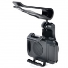 Universal Adjustable 360' Rotating Car Mounted ABS Phone Holder - Black