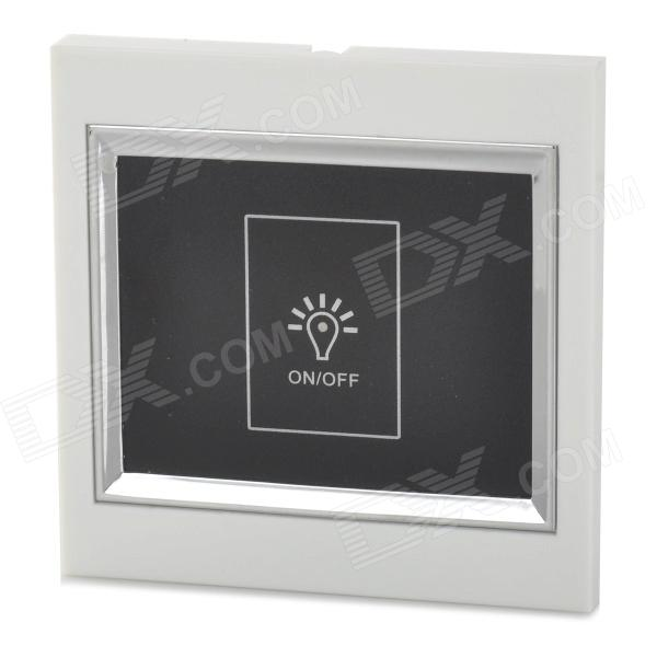LSON 1-Way Touch Pad Wall Switch for Light Lamp - White + Black