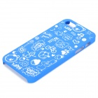 Protective Plastic Back Case for IPHONE 5 / 5S - Blue + White