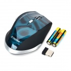 RH5288 Wireless 1000 / 1600dpi Optical Gaming Mouse - Black + Blue