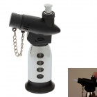 New Creative Blue Flame Windproof Butane Gas Jet Lighter w/ Safe lock / Cover - Silver + Black