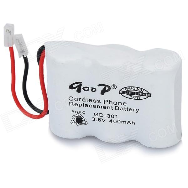 GD-301 Replacement 400mAh Rechargeable NiCd Battery for Phone - White