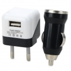 3-in-1 EU Plug Power Adapter + Car Charger + Micro USB Cable for LG Nexus 5 / 4 - Black (100~240V)