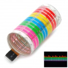 KINGLEASEN 4511 187-LED Multi-color Light 45 x 11cm Car Music Rhythm Lamp - Multicolored (12V)