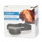 PET852 Pet Trainer 7-Level Electric Vibration Bark Stop Collar w/ Sensitivity Adjustable - Black