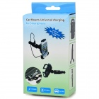 A137 Convenient 360' Rotating 2-in-1 Car Charger w/ Phone Holder - Black