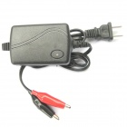 12V 1.25A Motorcycle Lead-acid Battery Charger - Black (US Plugs / 100~240V / 90cm-Cable)