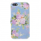 Fashionable Flower Pattern Protective PU Leather Case Cover for IPHONE 5 /5S - Multicolored