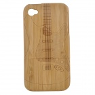 Guitar Pattern Protective Bamboo Back Case for IPHONE 4 / 4S - Brown