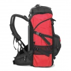 LOCAL LION Outdoor Travel Nylon Backpack Bag - Red + Black (45L)