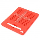 19 x 19 Lattice 361pcs Magnet Balls Drawing Toy Writing Board - Red + Silver