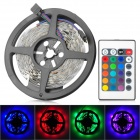 36W 1200lm 5050-150 SMD LED RGB Light Strip w/ 24-key Controller - White (5m)