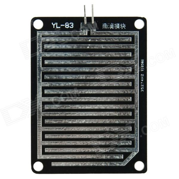 Produino YL-83 Single PCB Raindrop Sensor Module - Black + Silver
