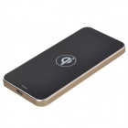 Q300 Ultra-thin Qi Standard Wireless Charger for Qi Standard Cellphones - Black + Golden