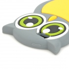 gel0192 Cute Owl Style Protective Silicone Back Case for IPHONE 5 - Grey + Yellow