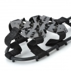 JT-400 Outdoor Hiking Snowfield Stainless Steel Crampons - Black (Size M / Pair)