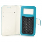 "Universal Protective PU Leather Case w/ Suction Cup for 4.0~4.5"" Cell Phones - Blue"