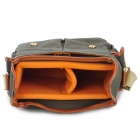 919 Universal Multi-Pocket Canvas DSLR Camera Shoulder Bag - Army Green