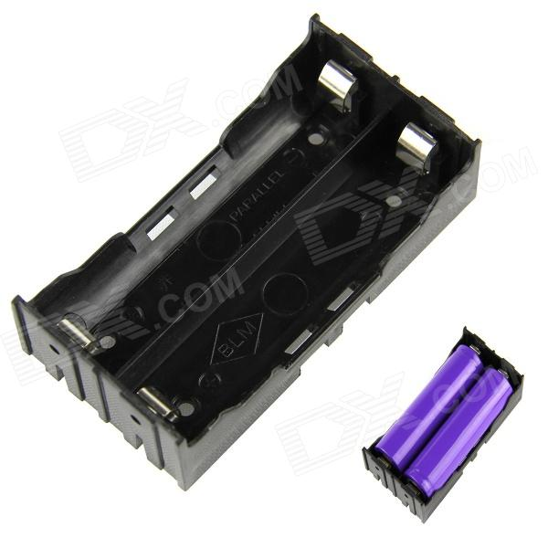 Buy DIY 2-Slot 18650 Battery Holder with Pins - Black with Litecoins with Free Shipping on Gipsybee.com