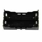 DIY 2-Slot 18650 Battery Holder with Pins - Black