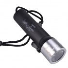 RichFire SF-603A LED 180lm 2-Mode Waterproof Diving Flashlight - Black + Silver (4 x AA)