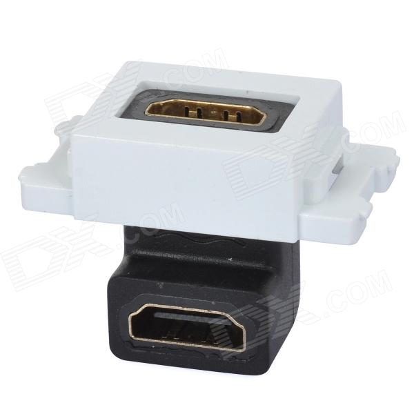 90 Degree Bent Welding Free HDMI HD Module Adapter - White + Black + Multi-Colored